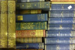 Fifty decorative Victorian and Edwardian hardback books