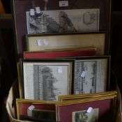 A quantity of architectural prints,
