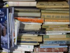 A large quantity of cookery books
