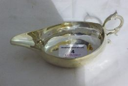 A silver pap boat