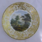 A Crown Derby porcelain cabinet plate,
