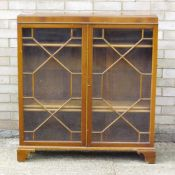 An early 20th century glazed display cabinet