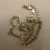 A silver gentleman's curb necklace