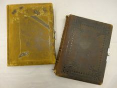 Two Victorian photo albums