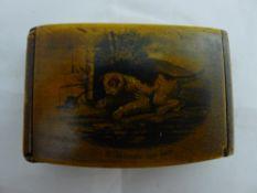 A 19th century treen snuff box