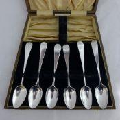 A straight set of six Georgian tea/coffee spoons by Bateman of London 1791-1811,