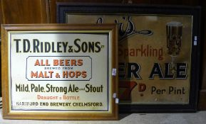Two breweriana advertising signs