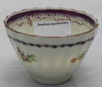 A 19th century porcelain tea bowl