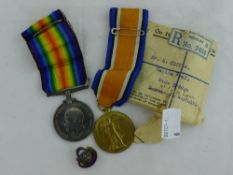 A WWI medal pair G-26116 Pte S.