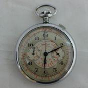 A vintage Pierce chronograph pocket watch
