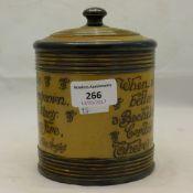 A Royal Doulton stoneware tobacco jar
