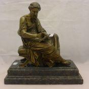 A bronze figure of a classical figure