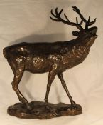 A bronze model of a stag