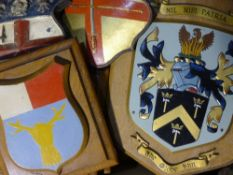 A quantity of painted armorials