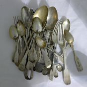 A quantity of miscellaneous silver flatware,