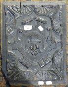A carved oak panel