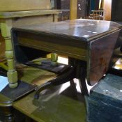 A Victorian mahogany pedestal Pembroke table
