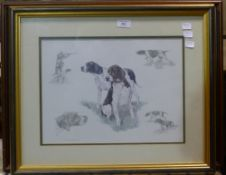 Two dog lithographs