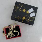 A pair of pendant earrings,