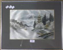 A Japanese silkwork