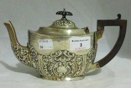 A silver bachelor's teapot,