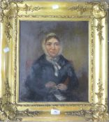 A 19th century oil on canvas portrait of a lady
