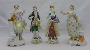 A pair of Continental porcelain figures,
