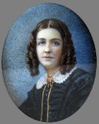 ENGLISH SCHOOL (19th century) Portrait Miniature of a Young Lady,