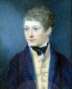 ENGLISH SCHOOL (19th/20th century) Portrait Miniature of Young Man,