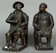 """A pair of 19th century patinated plaster figures by Luigi """"Lewis"""" Brucciani (circa 1786-1846)"""