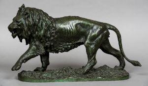 CHRISTOPHE FRATIN (1801-1864) French Lion, modelled walking Bronze,