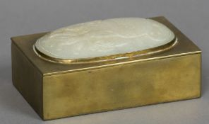 A Chinese brass box Of rectangular form,