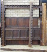 An 18th century and later oak half tester bed Of panelled form,