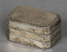 A George IV silver nutmeg grater, probably hallmarked for Birmingham 1823,
