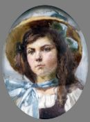 CONTINENTAL SCHOOL (19th century) Portrait Miniature of a Young Lady,
