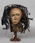 A Chokwe Mwano Pwo tribal mask,