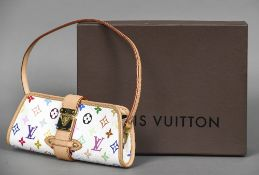 A modern Louis Vuitton multi-coloured monogrammed handbag Housed in a Louis Vuitton box.