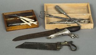 A collection of 19th century and early 20th century medical instruments Including: ivory handled