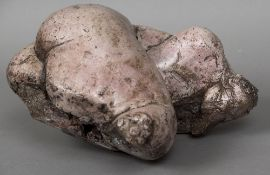 GERARD DUREAUX (1940-2014) French Female Nude Patinated clay Signed 22.