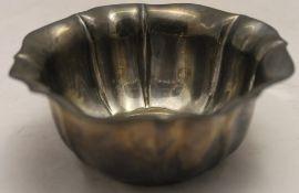 A small silver bowl