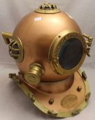 A model diver's helmet