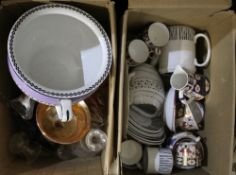 A quantity of china and glass etc