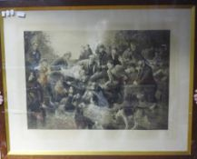 A large oak framed print - Gone to Ground