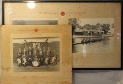 Two vintage rowing photographs,