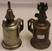 A pair of French miners lamps