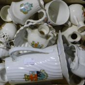 A quantity of crested china