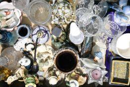A quantity of decorative ceramics and glass