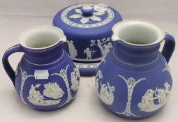 Three pieces of Wedgwood Jasperware china