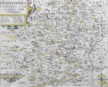 WILLIAM KIPP (flourished 1598-1610) English Hertfordiae Coloured engraving from John Nordan's