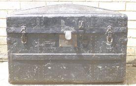 A Victorian metal bound trunk